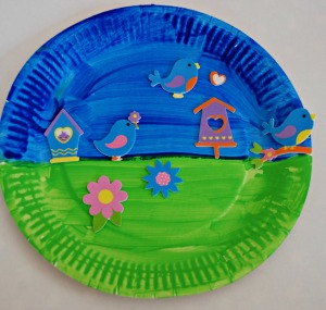 paper plate spring picture