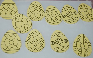 sand art easter egg templates from Baker Ross