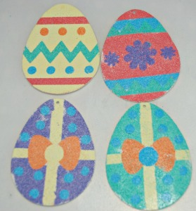 Sand art easter eggs