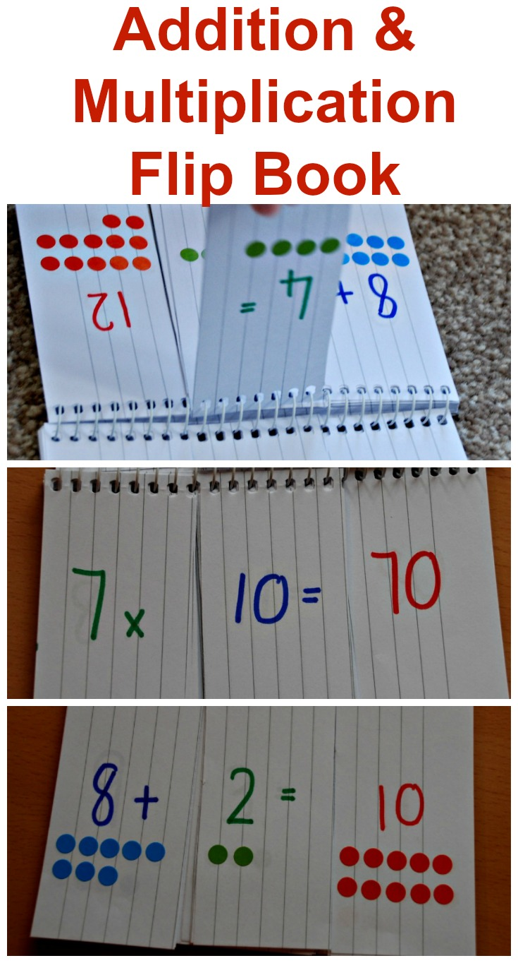 Addition and multiplication home made flip books ofamily great for allowing kids to practice their times table and gamestrikefo Images
