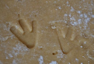 Baking - T-Rex footprint biscuits