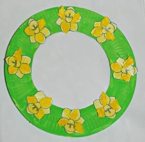 Daffodile Spring wreath