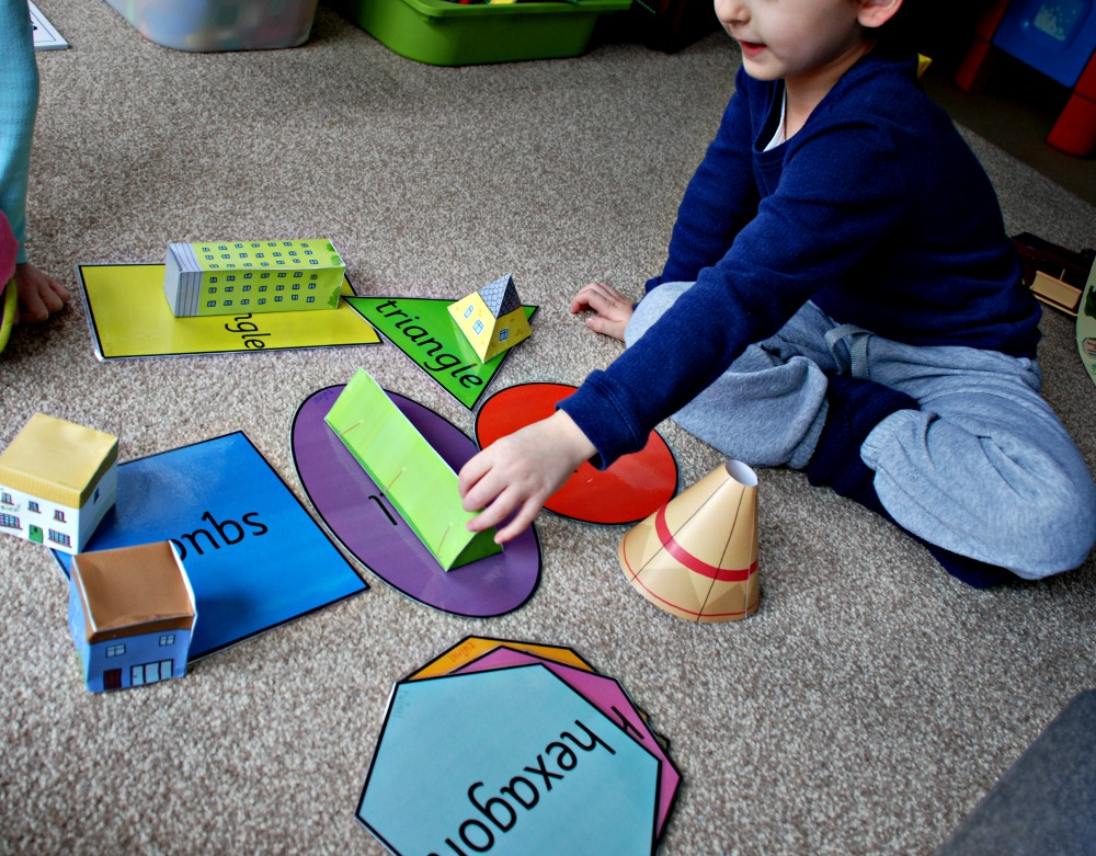 Shape templates for children