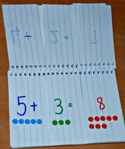 Making your own addition practice book