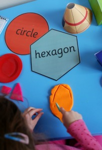 playdough shapes hexagon