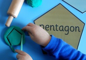 playdough shapes pentagon