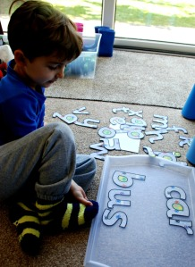 Road themed letters to build words