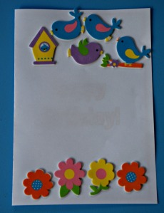 Card making using stickers from Baker Ross
