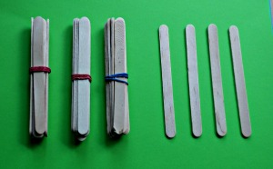 Craft sticks to help the kids learn about tens and ones. found on ofamilyblog