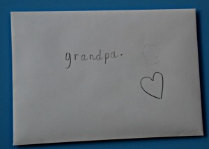 Making cards for grandparents