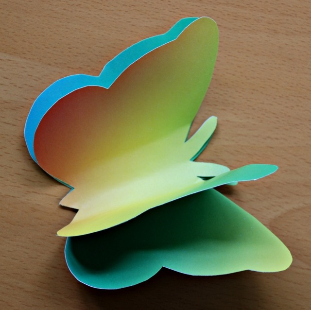 3D rainbow butterflies made at home