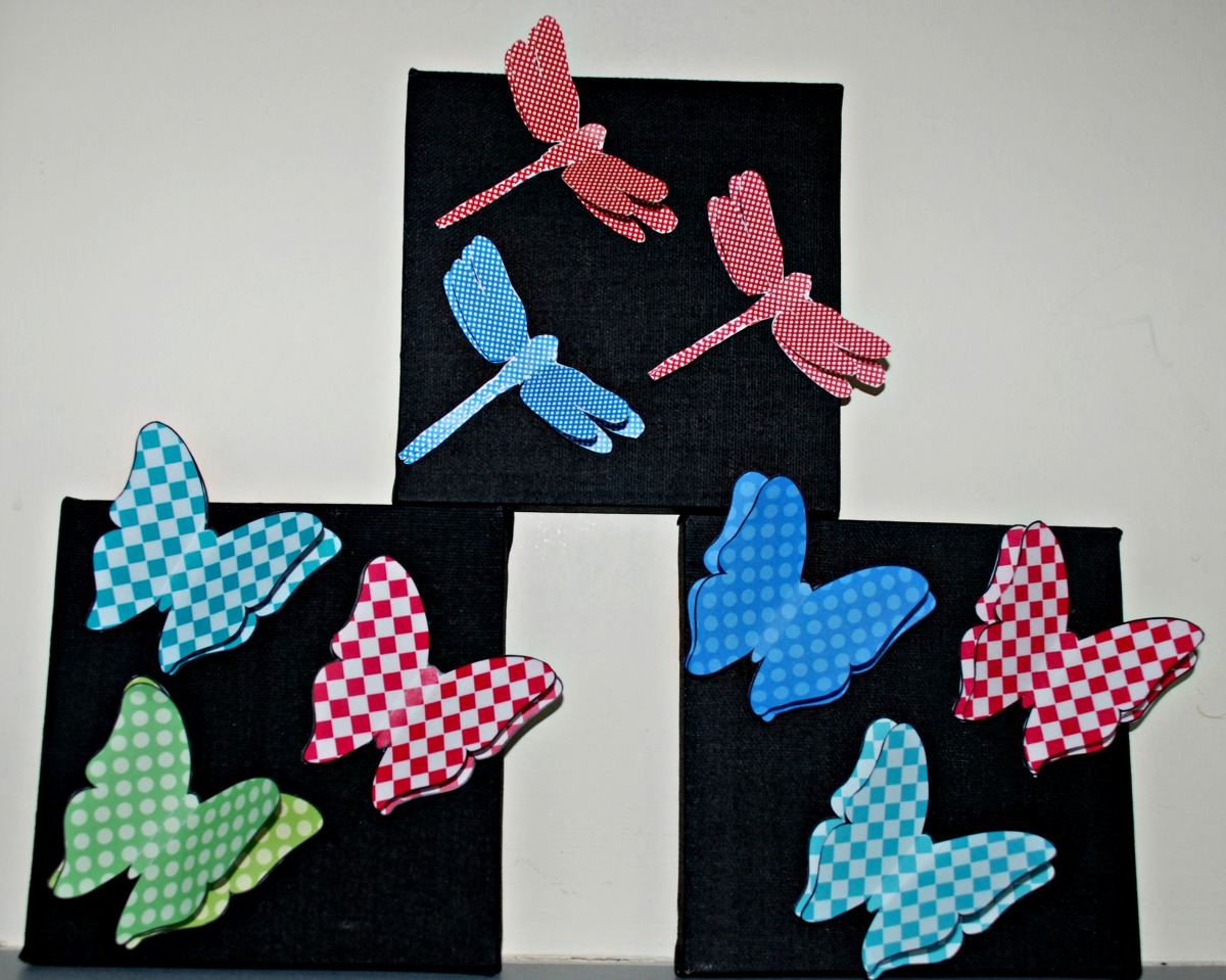 3D Wall Art Unique 3D Butterfly And 3D Dragonfly Wall Art  Ofamily Learning Together Design Ideas