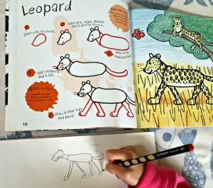 It's fun to draw Safari animals - drawing a Leopard