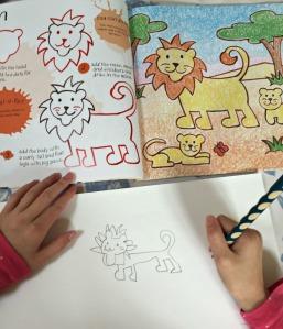 Its fun to draw safari animals - drawing a lion