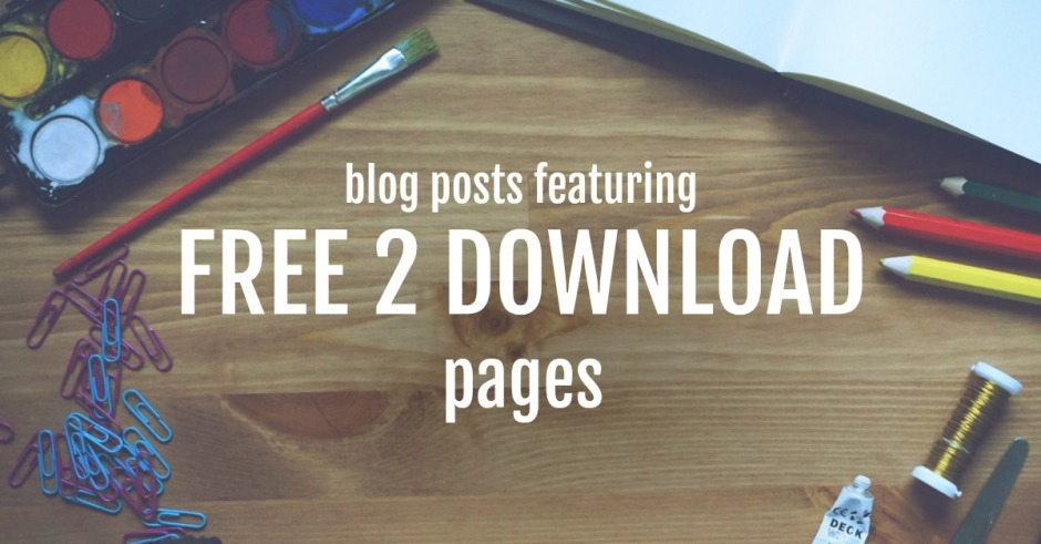 ofamily learning together blog posts featuring free to download pages