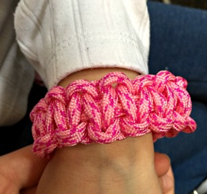 Paracord bracelet from baker ross