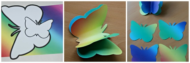 rainbow butterflies made by ofamilylearningtogether