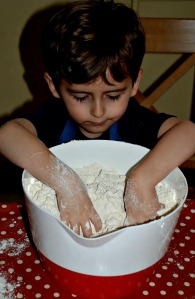 baking scones is a great tactile activity
