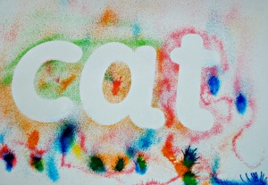 cat once you remove the stencils