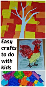 Easy to do Crafts with kids. Easy to set up, kids can do the craft by themselves and easy to clean up afterwards