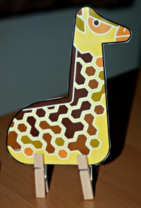 Enkl safari giraffe peg animal