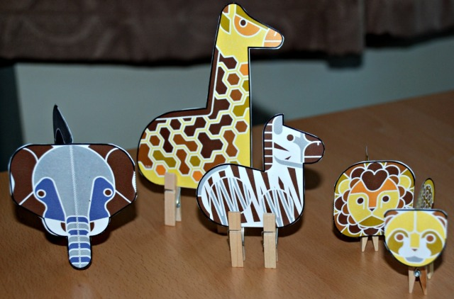 Enkl safari peg animal from Twinkl fun cool crafty african animals