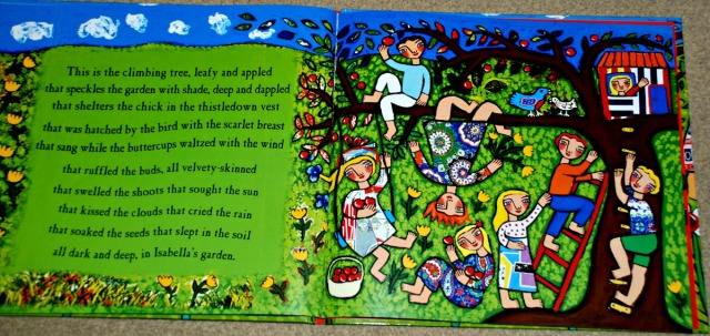 Isabella's Garden - what an inside page looks like
