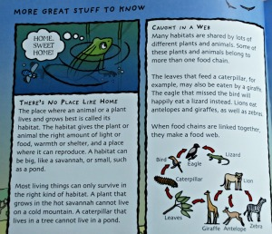 Staying alive a great science book for young kids which includes lots of facts