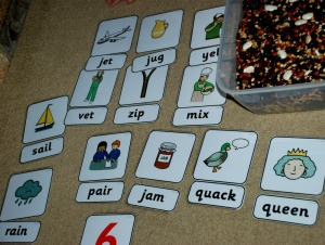 word cards matched to the correct picture