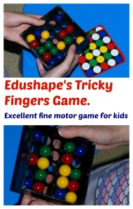 Edushape's Tricky Finger Game.  An excellent game for younger children.  perfect for gifts