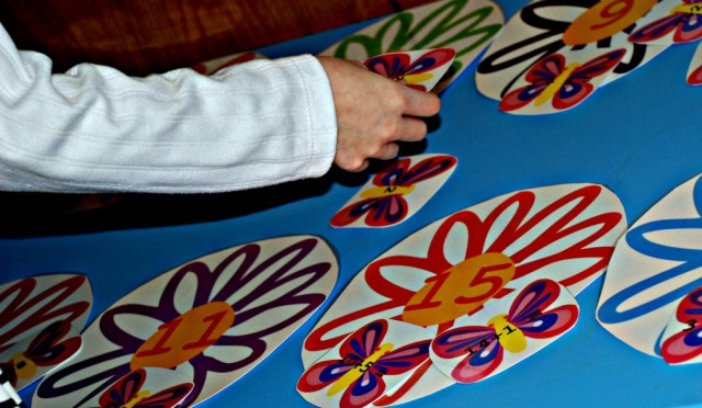 Flower and Butterfly maths matching activity - you match the correct sum to the correct number