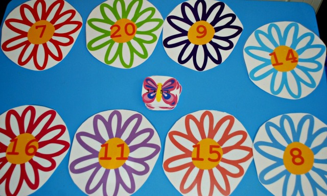 Flower and butterfly maths matching activity