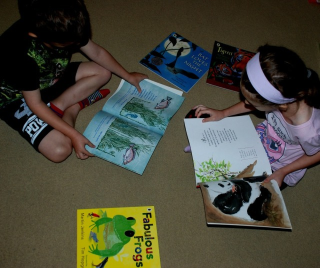 Reading our new Nature Storybooks