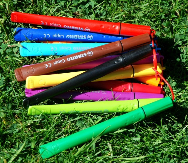 STABILO Cappi pens are perfect to use when you take the kids out on walks or outings