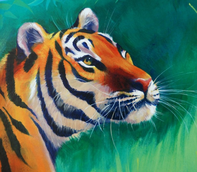 Tigress stunning image from the lovely Nature Storybook range