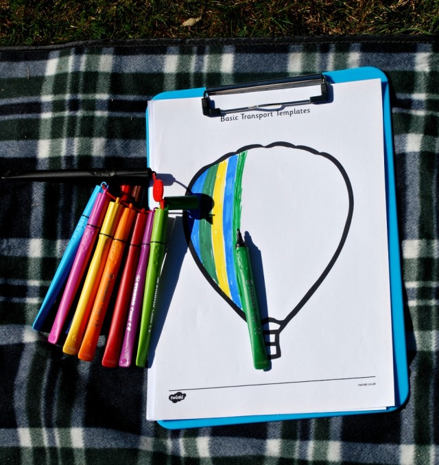 Using our STABILO Cappi pens while we are out at a picnic