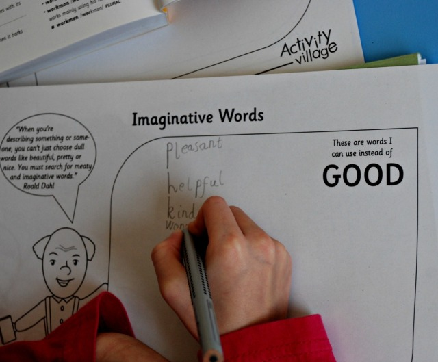 Vocabulary extension page for Good from Activity village