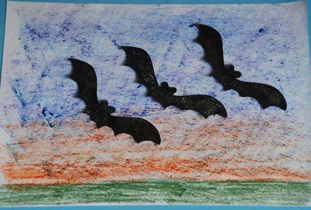 bats-at-dusk-picture-by-kids-background-with-pol-pastels-and-bats-are-from-an-activity-village-template