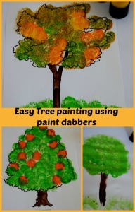 easy-tree-painting-for-children-using-paint-dabbers