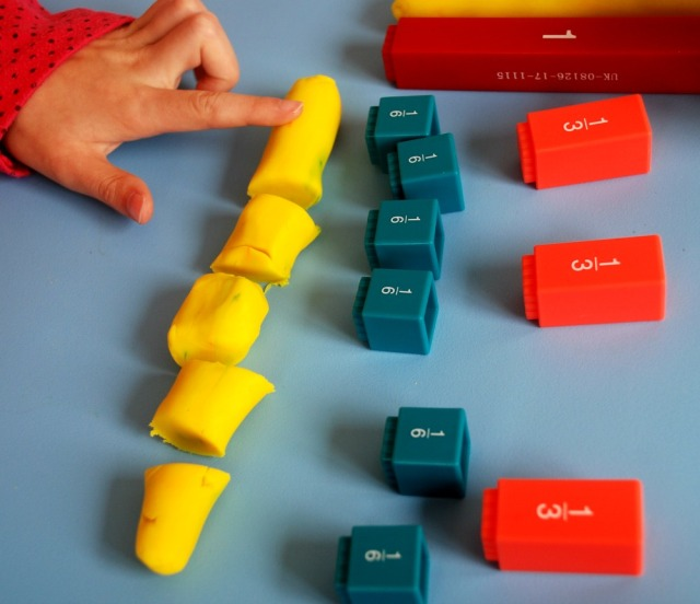 fractions-using-playdough-and-the-learning-resources-fraction-towers-to-explain-equivalent-fractions