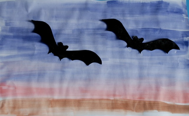 painted-bat-templates-on-a-water-colour-dusk-background