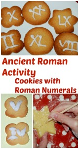 Ancient Roman Activity. cookies with Roman Numerals