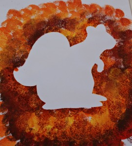 autumn squirrel art activity