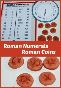 Ancient Roman History Activity - make some clay coins and write the Roman Numerals on them
