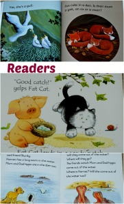 readers as used by the children of ofamily learning together