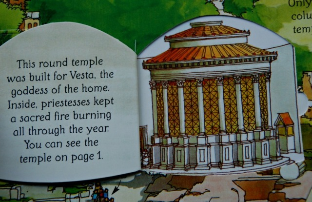 Usborne flap book See Inside Ancient Rome lift a flap and see what one of the ruins may have looked like