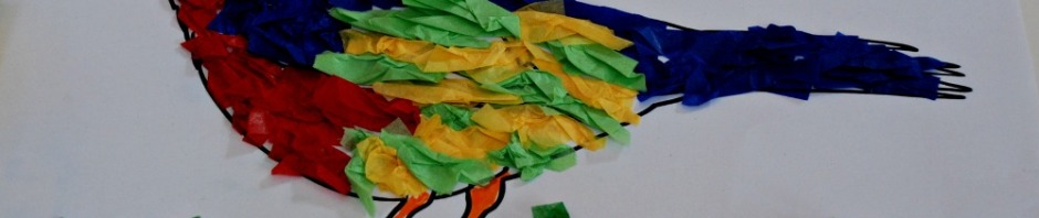 Tissue paper craft to go with the Eric Carle Book The Tiny Seed