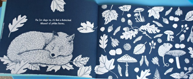 colour together nature book example of a double page
