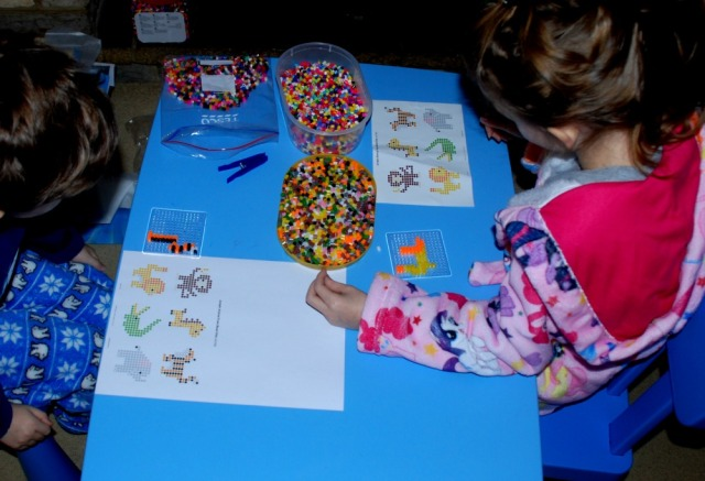 Creating the animals from the Jungle animal fuse bead kit