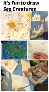 It's fun to draw sea creatures - a great drawing book for young children